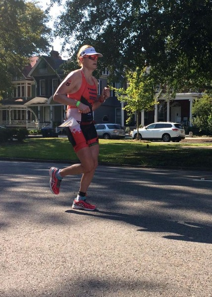 Running at IM Augusta 70.3