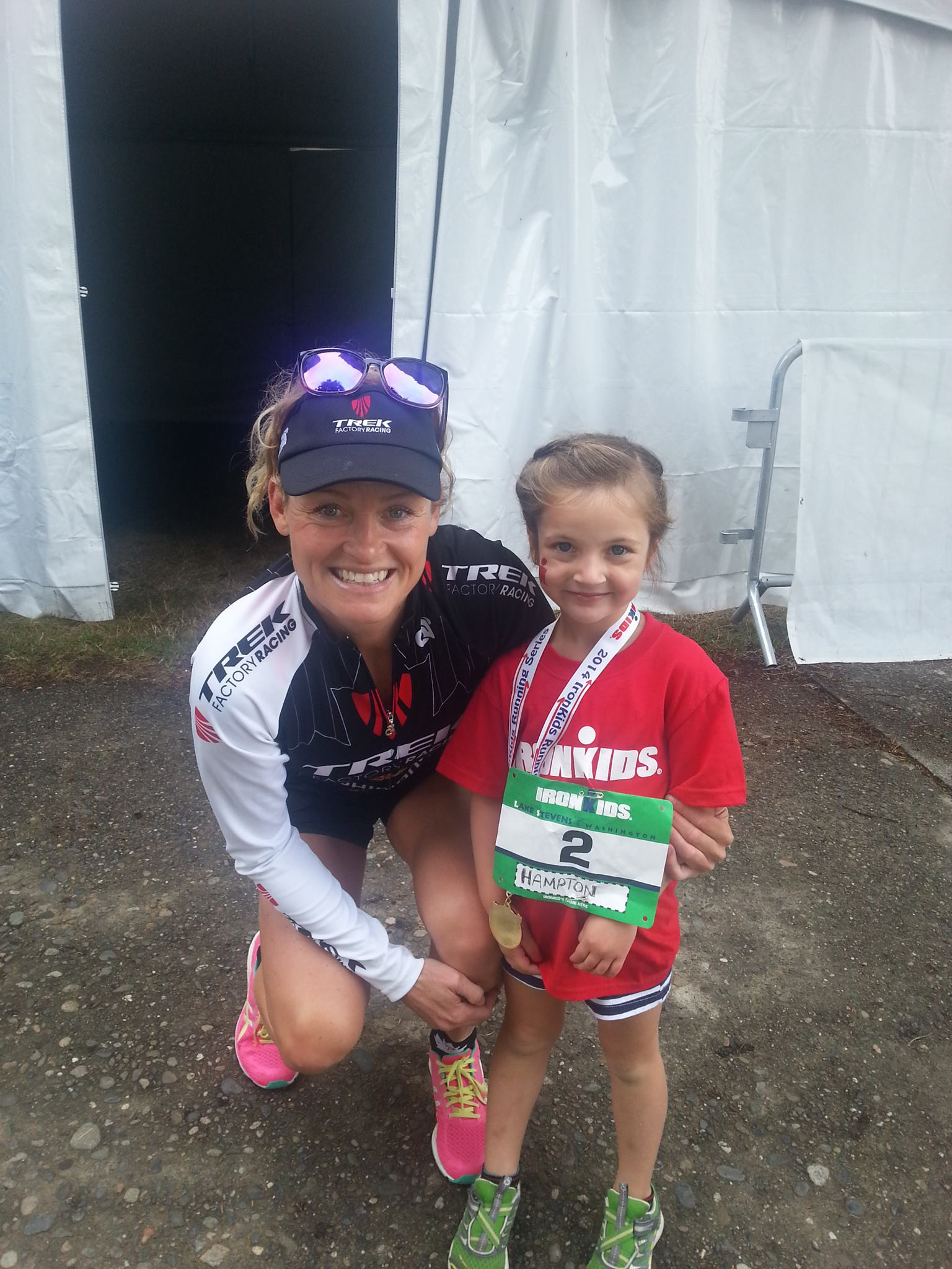 Kid takes part in triathlon