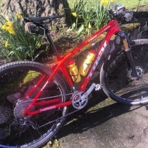 Melanie McQuaid Trek Superfly mountain bike