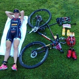 Melanie McQuaid compares road triathlon with offroad triathlon equipment XTERRA Maui 2014