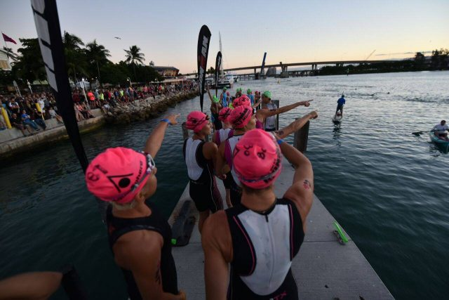 2016 Ironman Miami pro women before swim