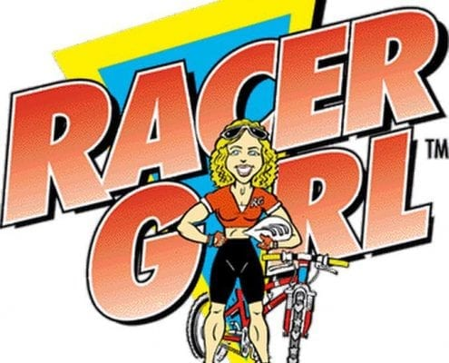 Melanie McQuaid Racergirl logo